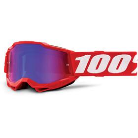 100% Accuri Anti-Fog Goggles Gen2 Youth, neon red/mirror